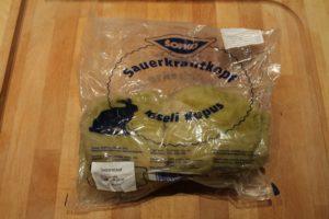 Sauerkraut im Ganzen