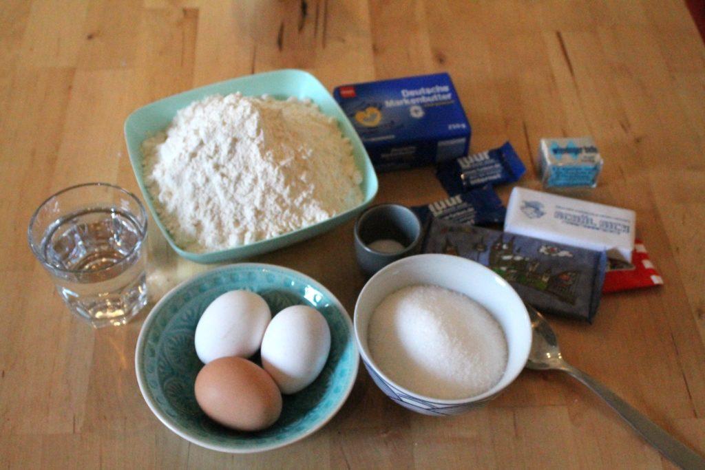 Zutaten für die Schokoladen-Babka