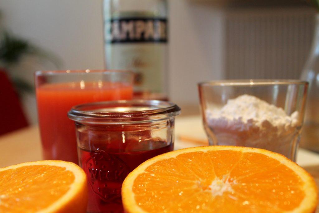 Zutaten Grapefruit-Campari-Sorbet