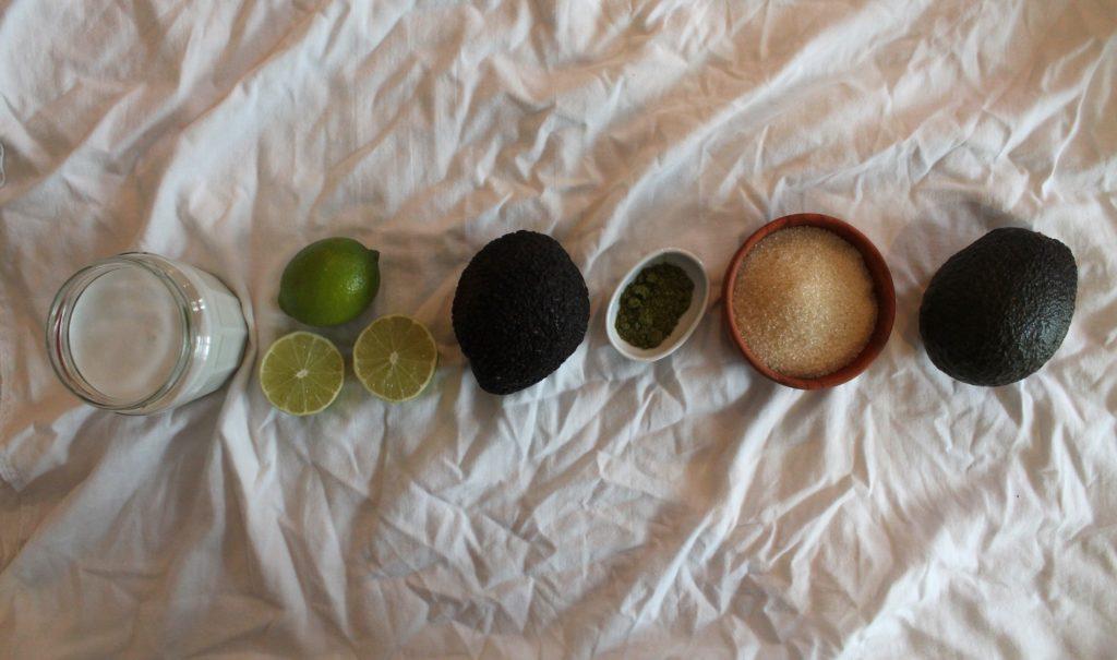 Zutaten Avocado-Limetten-Eis