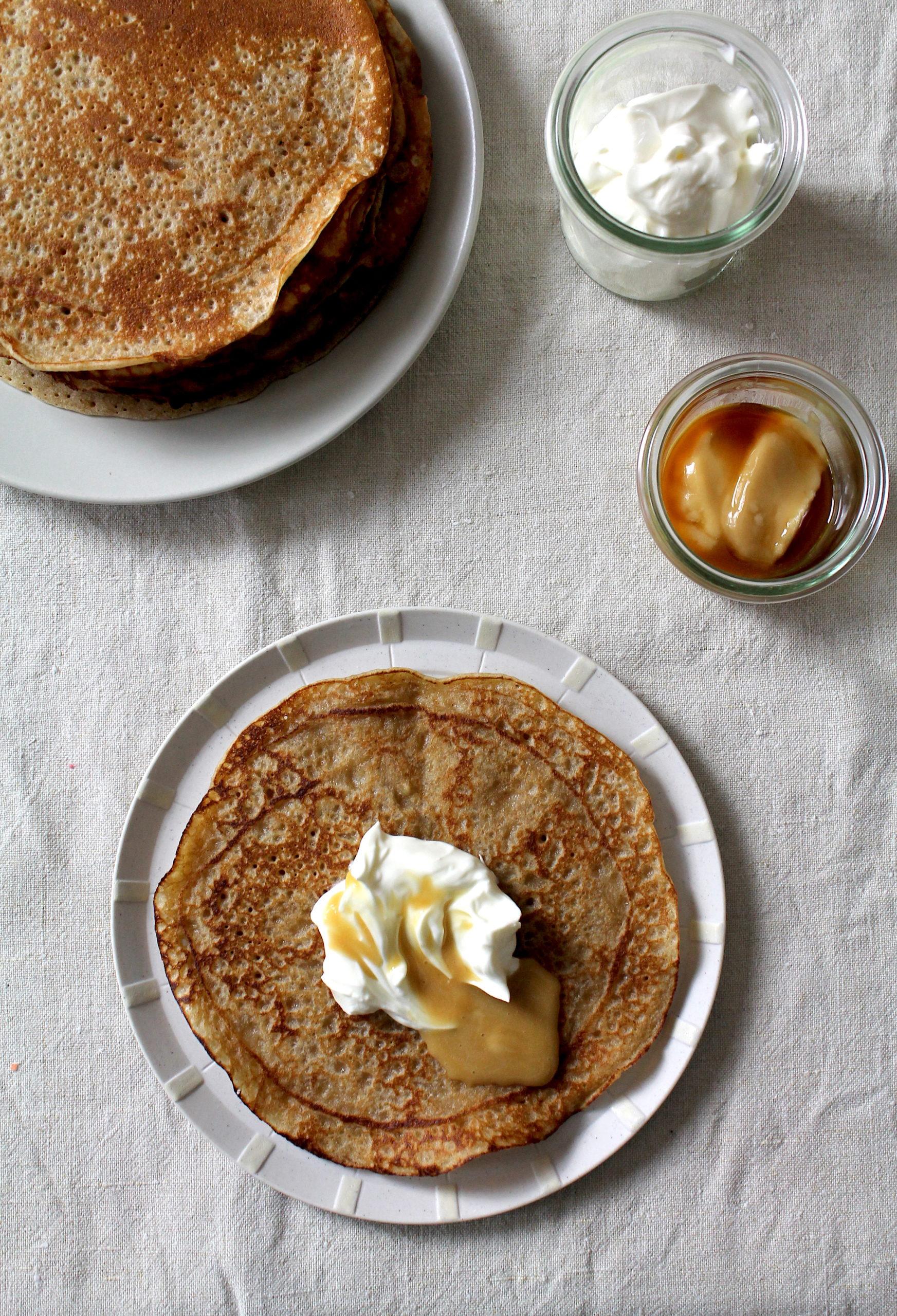 Sauerteig-Pfannkuchen mit Roggensauerteigstarter